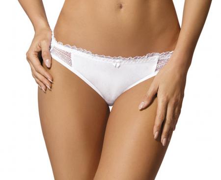 Slip Panty creme Damen Unterwäsche transparent Dessous 42 44 46